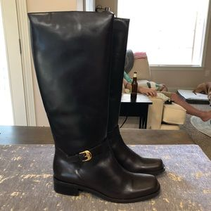 NIB Etienne Aigner Brown Leather Legacy 2 Boots